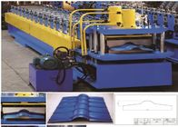 Metal Roof Ridge Cap Roll Forming Machine Hydraulic Cutting PLC Control