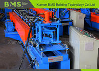 Shelf Pillar Racking Roll Forming Machine With On Line Punching And PLC Control Cabinet