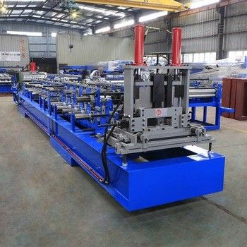 C Channel Steel Roll Forming Machine , C Shaped Purlins Forming Machine