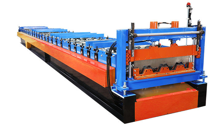 0.5-1.0mm Thick Steel Deck Roll Forming Machine , Floor Tile Deck Making Machine