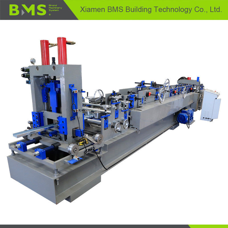 PLC Industrial C Purlin Forming Machine , C Shape Steel Purlin Machine