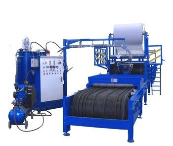 Low Noise PU Roll Foaming Machine , Metal Roof Panel Cold Roll Forming Machine