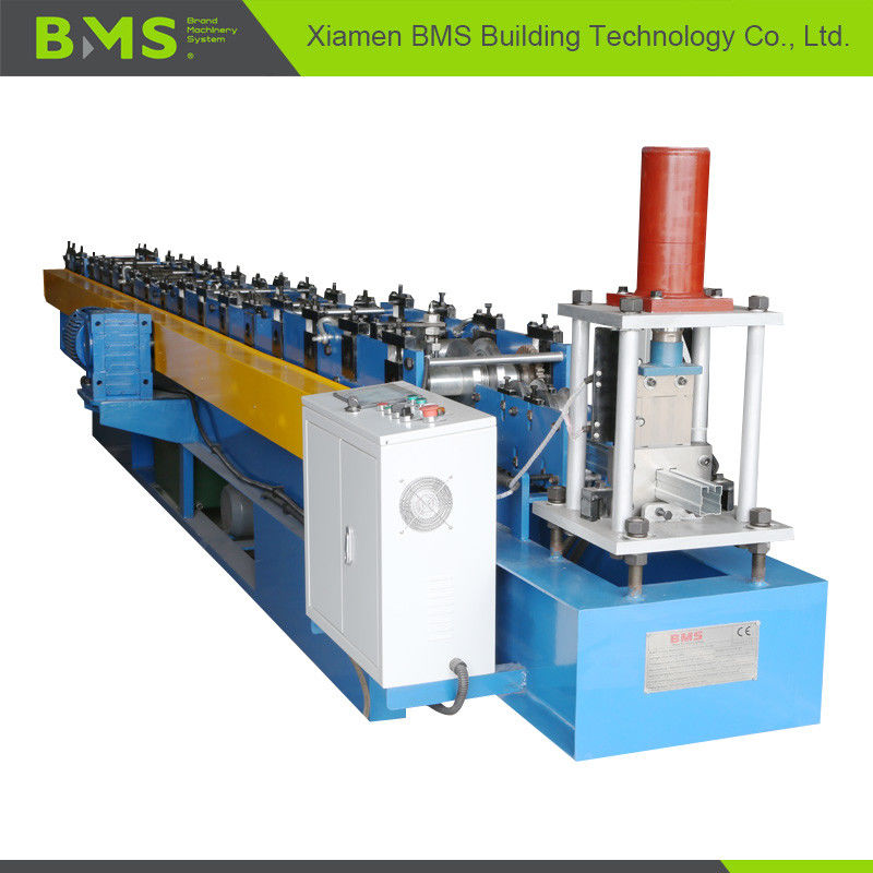 Shutter Door Guide Roll Forming Machine With Mold Steel Cr12 Cutter Heat Treatment