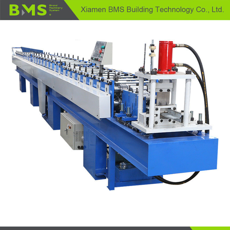 Metal T Profile Roller Shutter Door Roll Forming Machine Full Automatic 12-15m/min