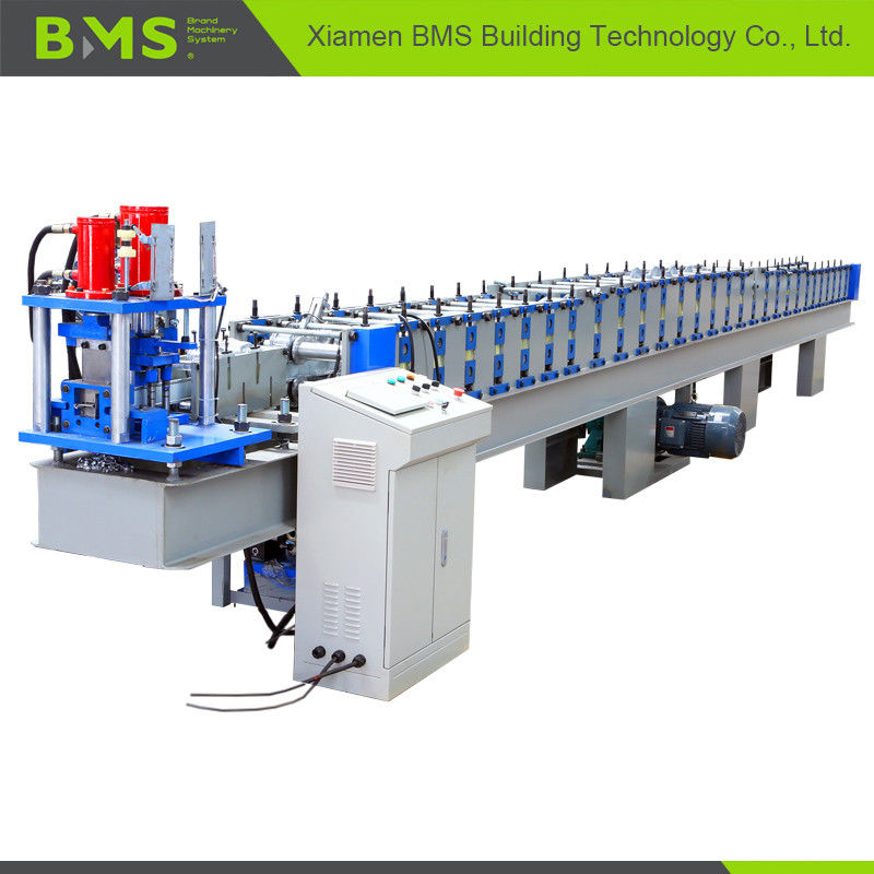 High Speed T Profile Rolling Shutter Door Frame Making Machine 12-15m/Min
