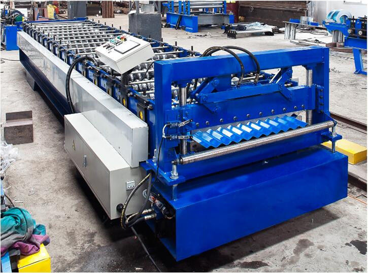 Steel Corrugated Roof Panel Roll Forming Machine 16 / 18 Steps CE Approval