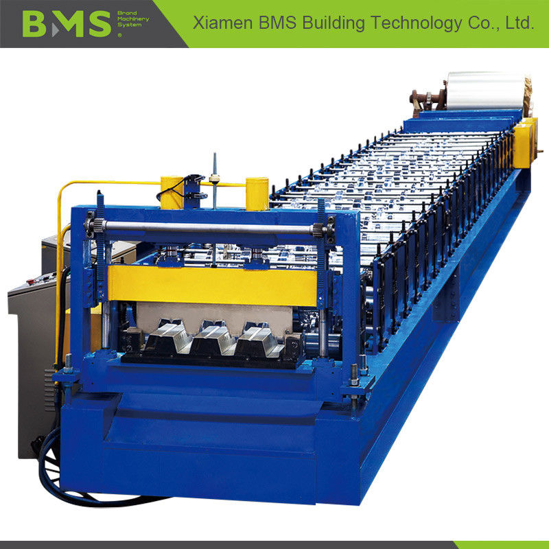 PLC Control Metal Steel Roll Forming Equipment for Floor Decking 12-15m/min