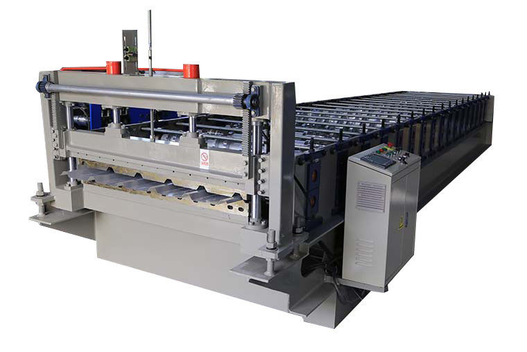 0.25-0.6mm Roof Steel Profile Roll Forming Machine With PLC System Controls