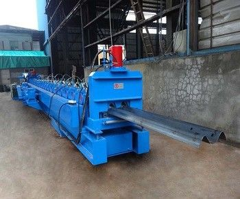 Galvanized W Beam Highway Guardrail Beam Roll Forming Machine Hydraulic Decoiler