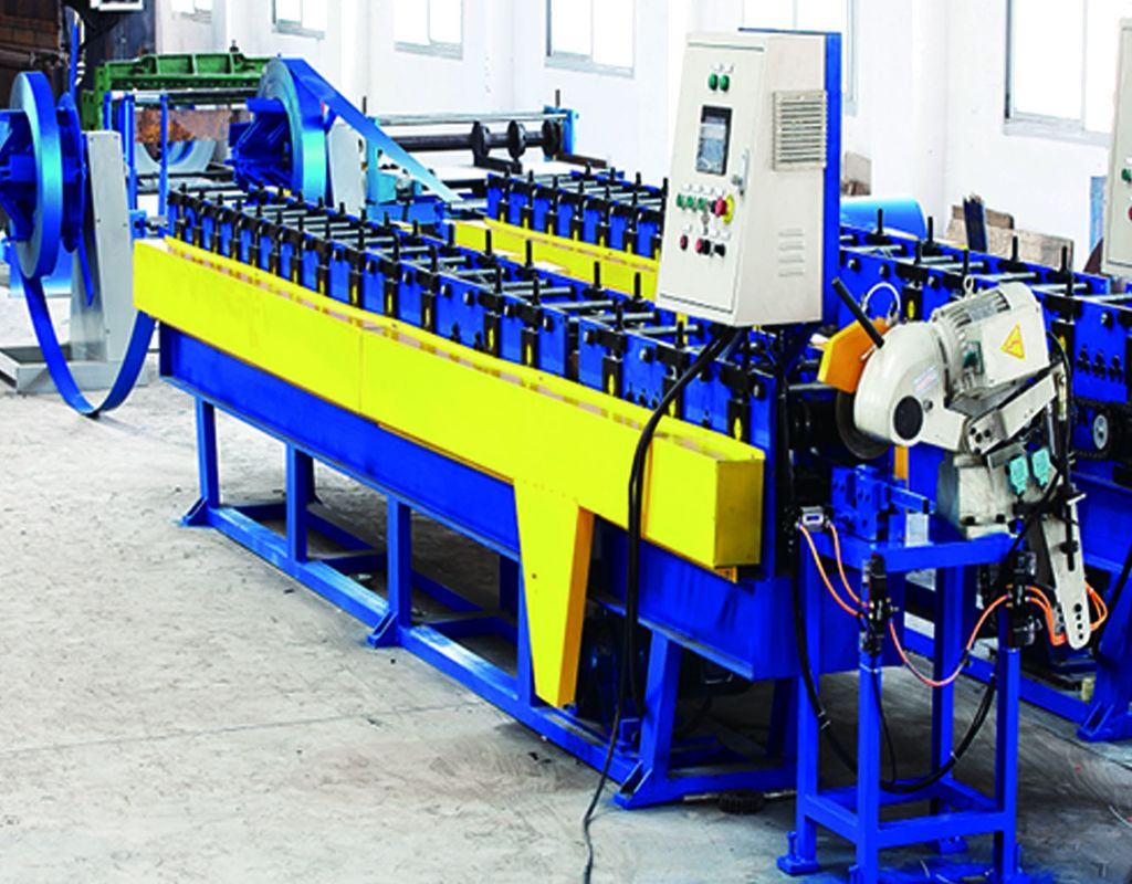 Easy Operate Square Steel Ceiling Support Pipe Making Machine 0.2-0.5mm Thickness