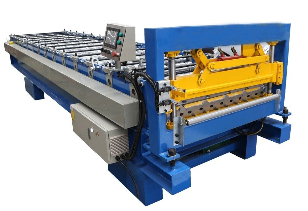 Metal Sheet Roof Roll Forming Machine Corrugated Roll Former Fully Automatic