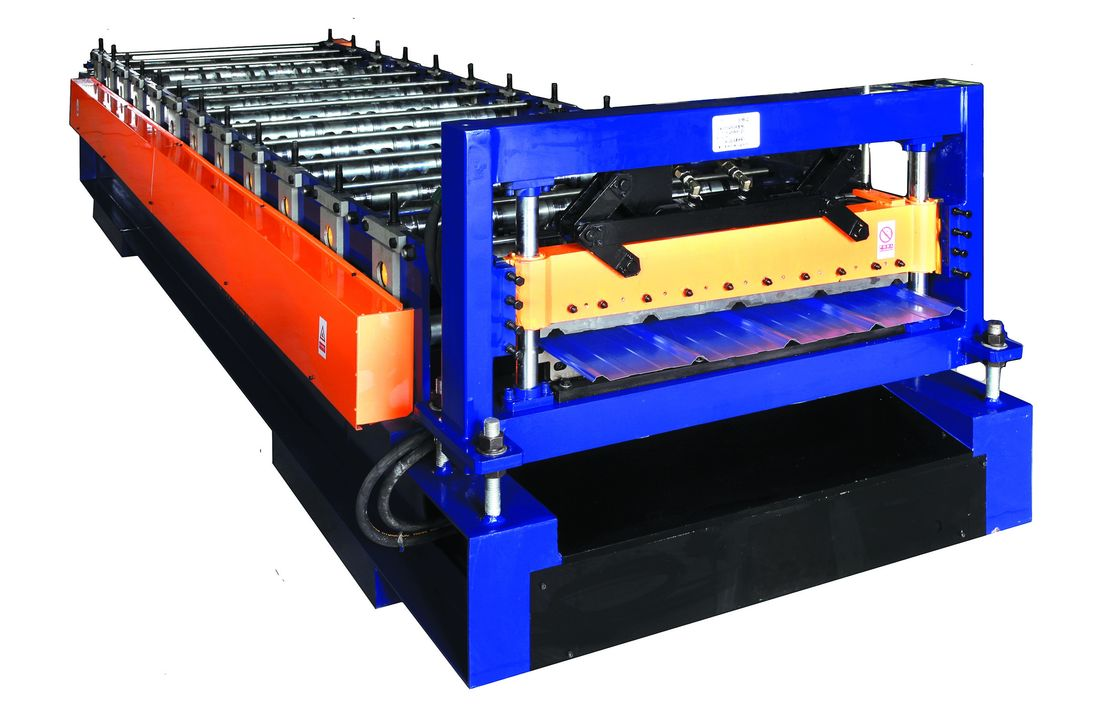 Small Type Roof Panel Roll Forming Machine , Galvanized Sheet Metal Roof Making Machine