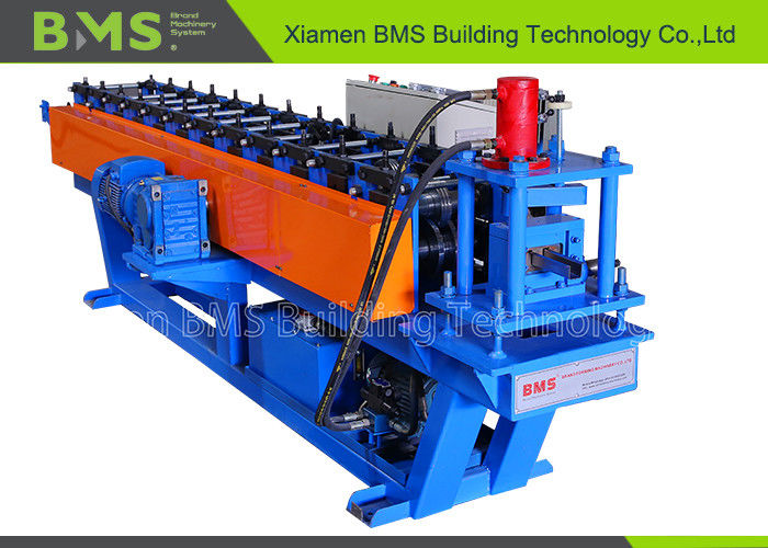 Shelf Plate Reinforcing Rib Steel Roll Forming Machine PLC With Touch Screen Control